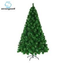 Strongwell 60/90/150/180 см монохромный с сосновыми иголками дерево искусственная Рождественская елка Рождественские украшения домашнего декора