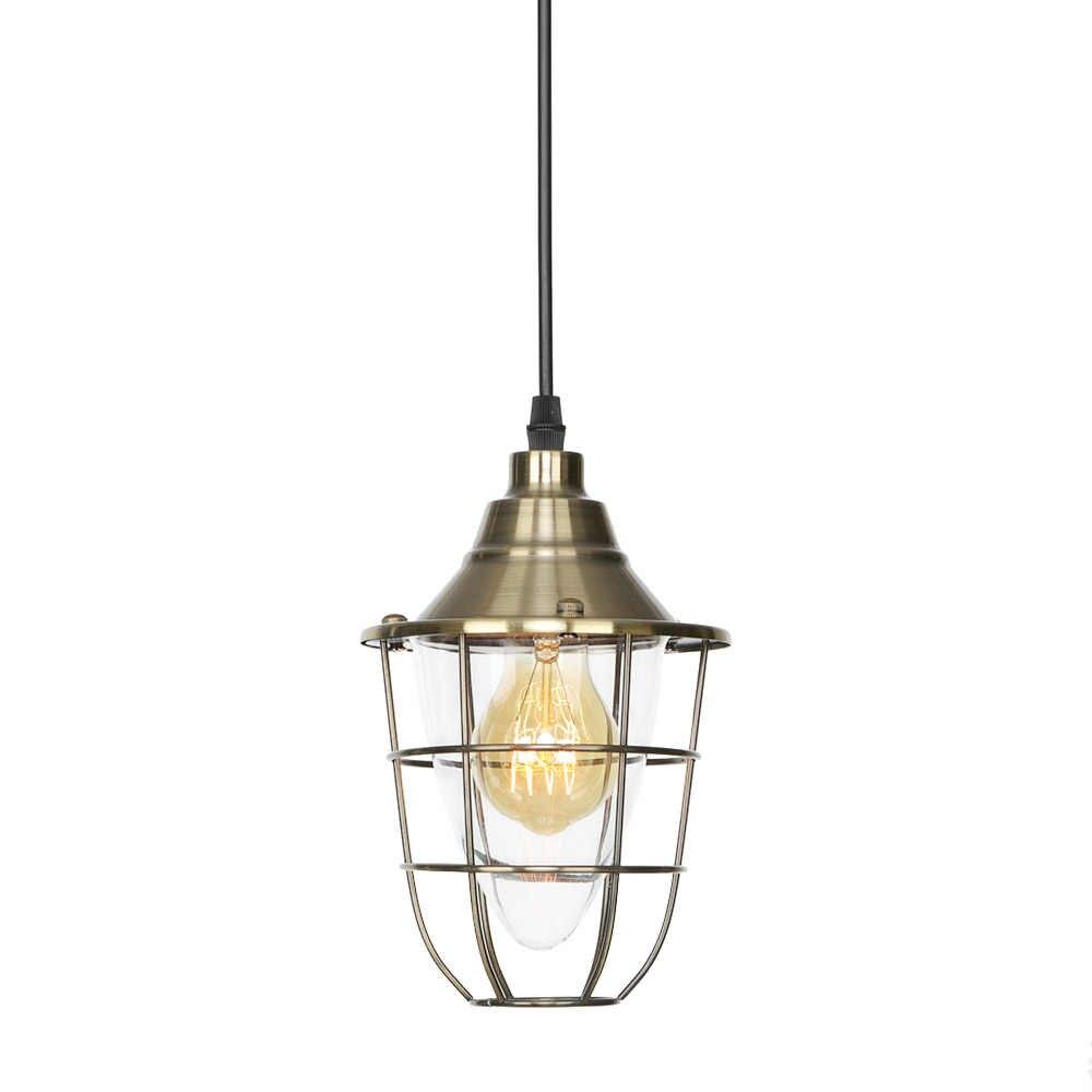 Промышленный подвесной светильник, винтажный Железный стеклянный Лофт декор, светодиодный подвесной светильник для столовой, бара, спальни, дома, подвесной светильник
