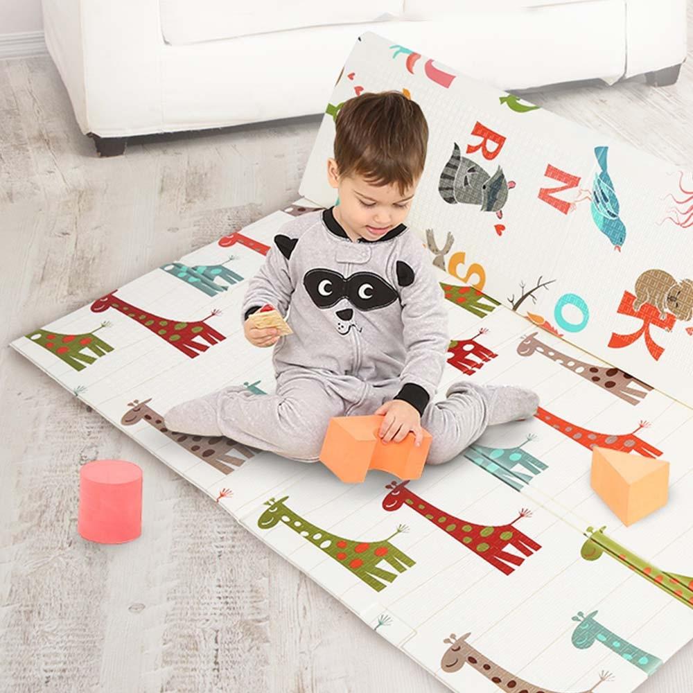 Bébé XPE Cartoon jouer tapis pliant enfants tapis Puzzle tapis anti-dérapant couverture salon bébé jeu couverture