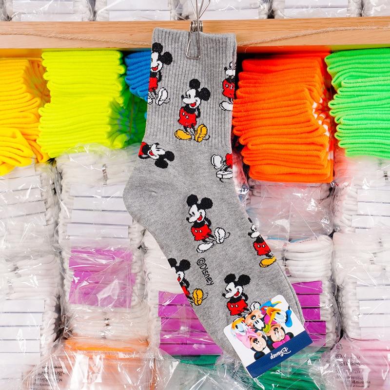 Disney adult socks Mickey Mouse sweet socks adult fashion wild thread cotton socks ladies 5