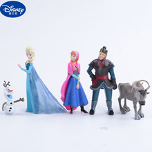 5pcs Disney Princess Toys Anime Figure Kristoff Sven Olaf Fr
