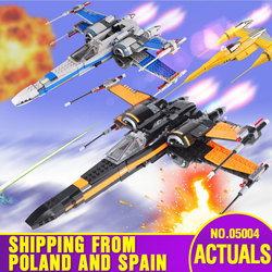 From Spain DHL 05004 05029 Star Toys Wars First Order The 79102 Poe's X Fighter wing Set Building Blocks New Kids Christmas Toys