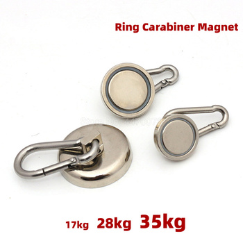1PCS Super Strong Magnet Fishing Powerful Magnetic Search Aimant Puissant Neodymium Magnets Salvage Hook Heavy Duty Swiveling super strong magnet pot fishing hook magnets deep sea salvage holder pot magnets imanes strongest permanent powerful magnetic