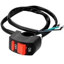 Interruptor Luces Antiniebla Para Manillar De Moto 12 V Cc Negro