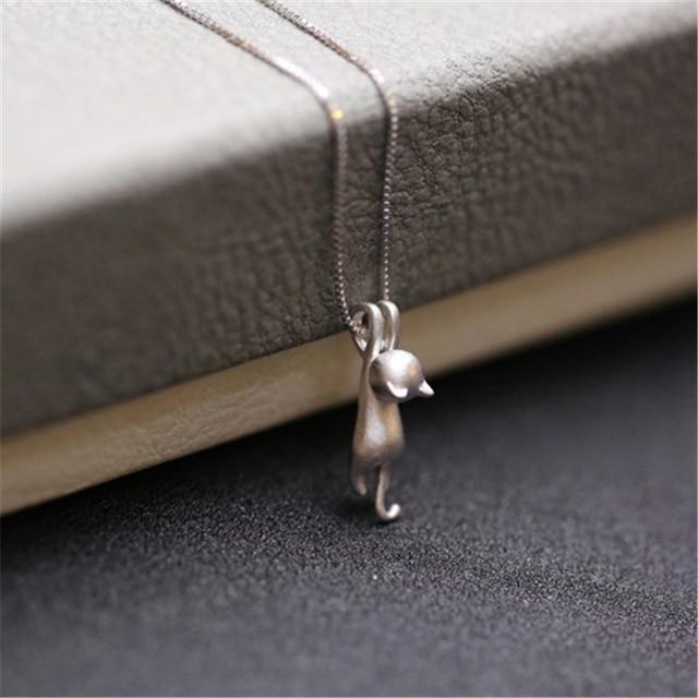 Купить ожерелья серебряного цвета подвески для кошек ожерелья с животными