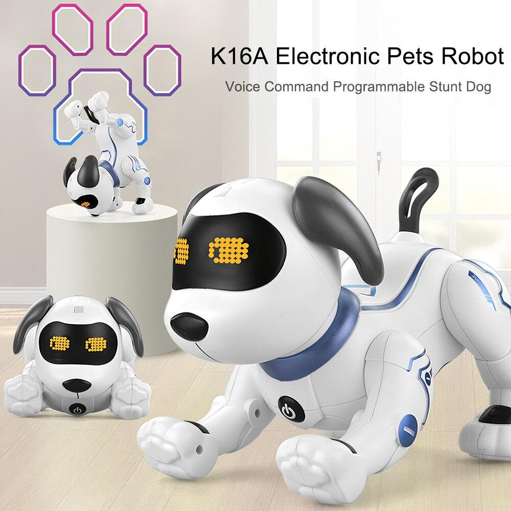 Rc robô eletrônico cão bonito dos desenhos