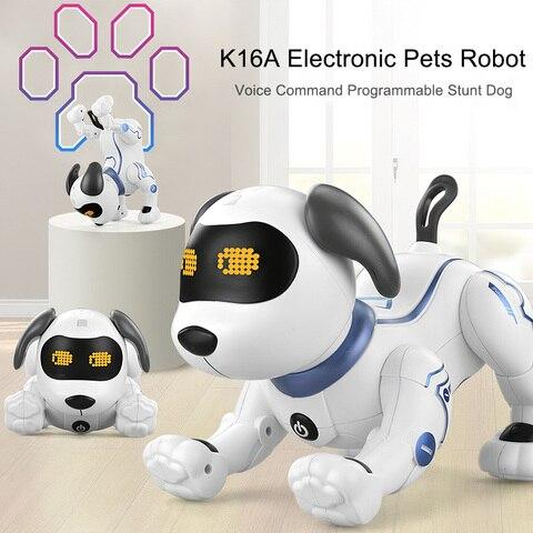 rc robo eletronico cao bonito dos desenhos animados do animal de estimacao voz musica musica