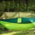 57 ポータブル屋外のキャンプハンモック蚊帳高強度パラシュート生地ベッド狩猟睡眠スイング