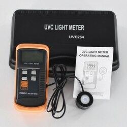 2020 nuevo medidor de luz UVC UVC254 medidor de UV Medición de radiación UV radiómetro de intensidad