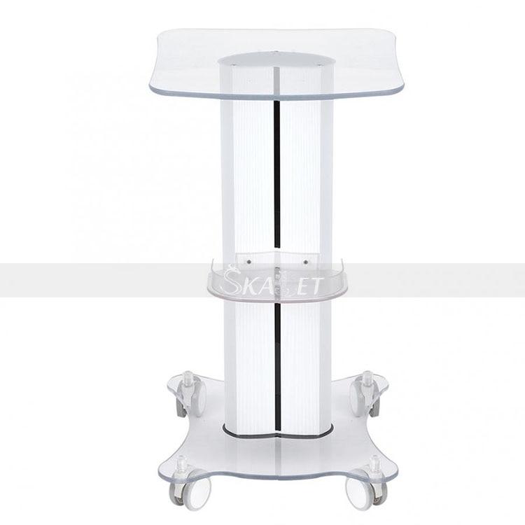 ABS Beauty Salon Trolley Salon Use Pedestal Rolling Cart Wheel Aluminum Stand For RF Cavitation Machine