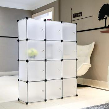 12 Cubes Interlocking Plastic Wardrobe Cabinet Closet Wardrobes Freely assembled Oragnizer Closet Cabinet  Portable Storage C04