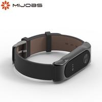 Pulsera de correa para Mi Band 2, pulsera de cuero genuino Opaska My Band Straps 2, accesorios para Xiaomi Smart Band Miband 2