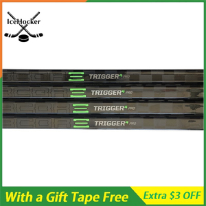 NEW ARRIVAL Ice Hockey Stick Trigger Series 4 pro with Grip Carbon Hockey Sticks with a Free TapeSR P19 Flex 75/85/105