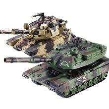 1:32 RC Battle Tank Crawler Remote Control Toys Car Can Laun