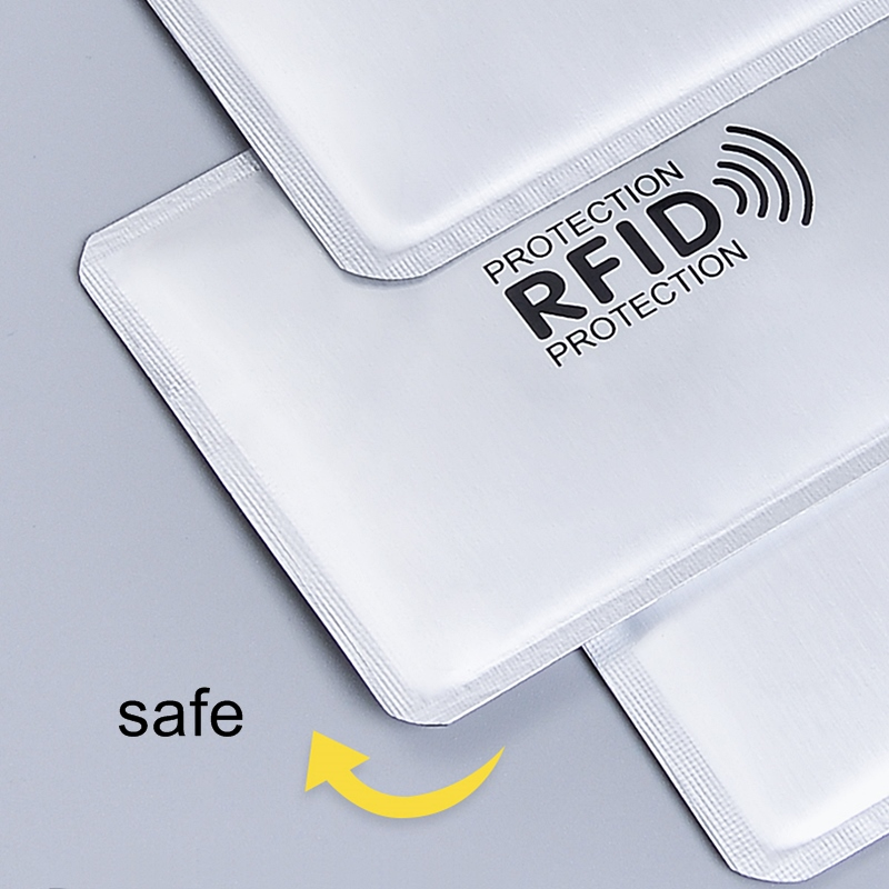 Anti Rfid Card Holder NFC Blocking Reader Lock Id Bank Card Holder Case Protection Metal Credit Card Case Aluminium F051 5