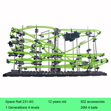 Space Rail 4 Levels Glow in dark 231-4G Roller Coaster Space Ball Model Building Kits Toy DIY Educational Toys for Children цена в Москве и Питере