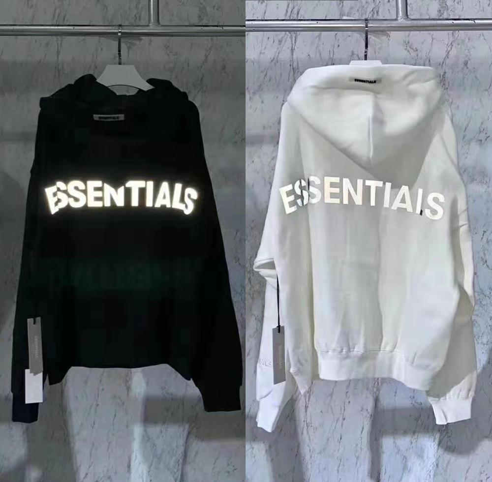 2020 Latest top Hip Hop FOG Essentials Season 6 3M Reflective Pullover Hoodies Hip Hop Oversize Men Women Fashion Sweatshirts-in Hoodies & Sweatshirts from Men's Clothing