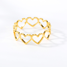 Classic Simple Heart Ring Bijoux Femme Wave Forever Love Finger Jewelry Anti Allergy Wedding Band Brithday Gift