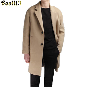 Boollili Medium Long Coat Wool Men Brand