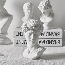 Home Decoration sztuka z żywicy rzemiosło mitologia grecka David głowa popiersie Mini europa Michelangelo rzeźba szkic praktyka prezenty tanie tanio BOMAROLAN Ludzi Nowoczesne Żywica