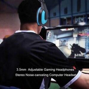 Image 5 - Kebidu yüksek performanslı ayarlanabilir oyun oyun kulaklıkları 3.5mm gürültü önleyici bilgisayar PC oyuncular için mikrofonlu kulaklık
