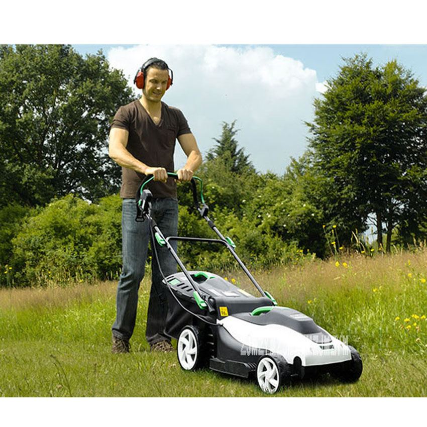 Push Mower Grass Lawn Trimmer Household Lawn 3200RPM Garden Small YT5148 Mower Electric 1800W Power 220V Tools Type High 42CM