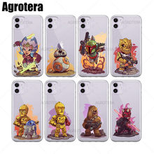 Agrotera 100 Pieces Phone Cases Ahsoka Tano BB-8 Boba Fettt Clear TPU Case Cover for iPhone 6 6s 7 8 Plus X XS XR 11 Pro Max(China)
