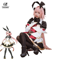 ROLECOS Game Fate/Grand Order Saber Stage 3 Cosplay Costumes Dress Astolfo Cosplay Costume Women Outfit Costume With Socks