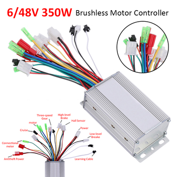 Electric Bike Accessories Brushless DC Motor Controller 36V/48V 350W For Electric Bicycle E-bike Scooter High Quality 12v 24v 36v 48v 500 800w dc electric bike motor brushed controller box for electric bicycle scooter e bike accessory