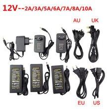 Adaptador de alimentação led dc5v/dc12v/dc24v 1a 2a 3a 5a 7a 8a 10a para led strip lâmpada iluminação led power driver plug
