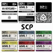 Наклейки для карт SCP специальные процедуры удержания основы Логотип Косплей карточная карта доступа