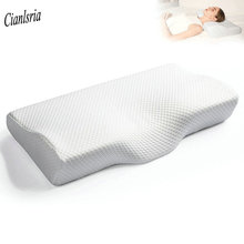 Butterfly Pillow Memory-Foam Bedding Neck-Protection Shaped Comfortable Slow-Rebound