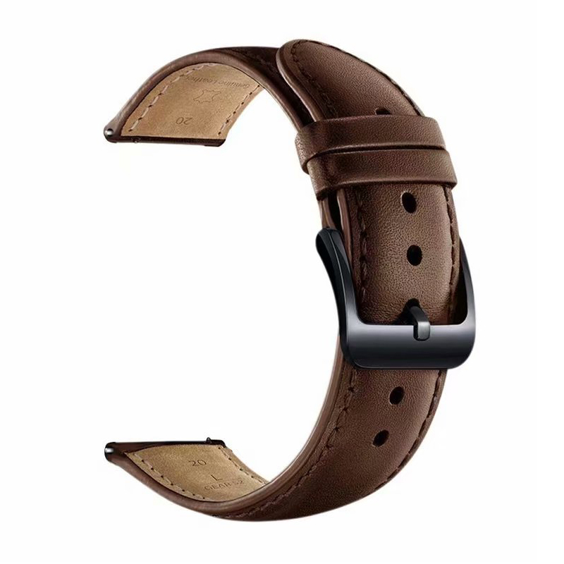 22mm/20mm Genuine Leather Band For Samsung Galaxy 46mm/42mm Gear S3/S2 Frontier Active Huawei Watch Gt 2 Amazfit Bip Bracelet
