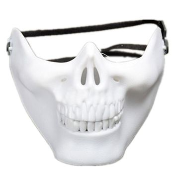 Halloween Mask Skull Skeleton Mask Full Face Protector for Cosplay Masquerade Pa image