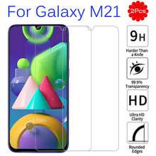 2 pçs samsun m21 vidro de proteção para samsung galaxy m21 vidro em galáxia m21 a02 m30s a12 a51 a32 m51 m 21 protetor de tela armadura