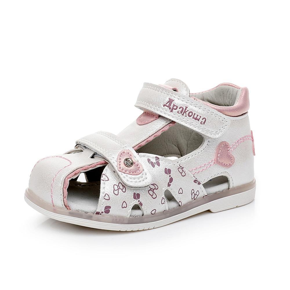 859.65руб. 49% СКИДКА|Летние сандалии с закрытым носком для девочек; Детские сандалии для маленьких девочек; Ортопедическая прогулочная обувь принцессы с цветочным рисунком|Сандалии| |  - AliExpress