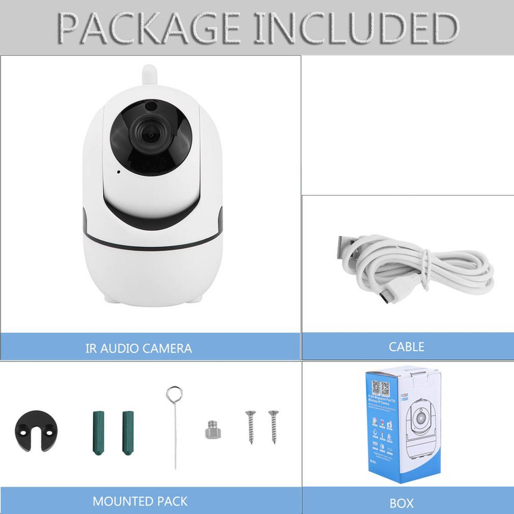 AU Plug Wireless Full HD 720P Pan/Tilt IP Security Camera Network CCTV Night Vision WiFi Motion Detection Camera
