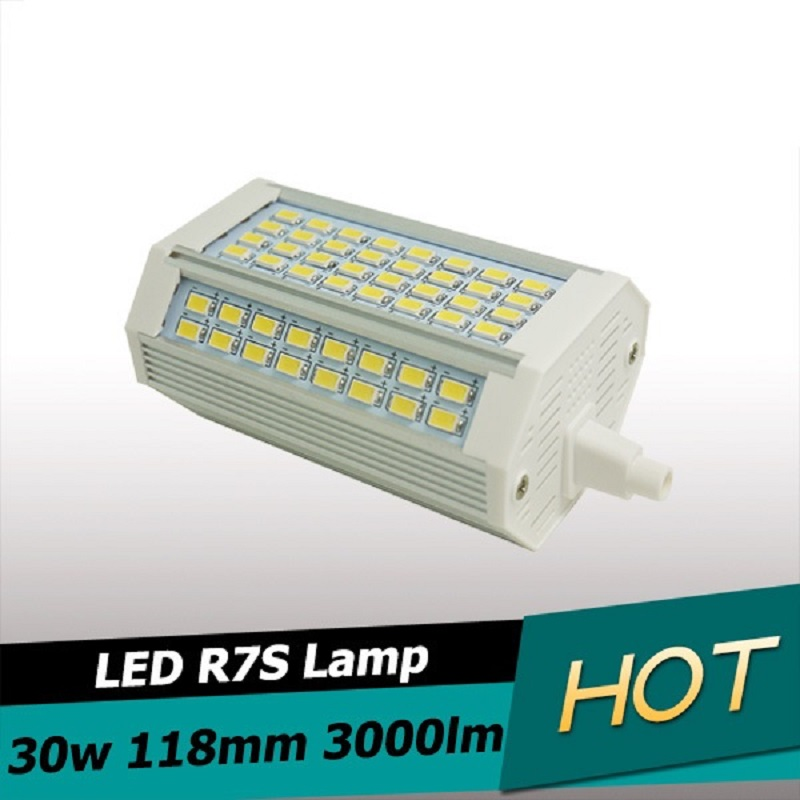 New Design 30w Led R7S Light 118mm No Fan Dimmable R7S Lamp J118 R7S  Food Light 3 Years Warranty AC110-240V