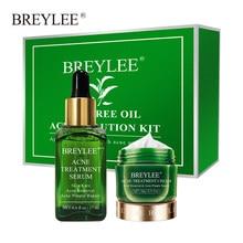 BREYLEE Anti Acne zestaw naprawczy maska na twarz leczenie usuwanie kontrola oleju krem zmniejszyć pory nawilżający Serum do pielęgnacji skóry twarzy