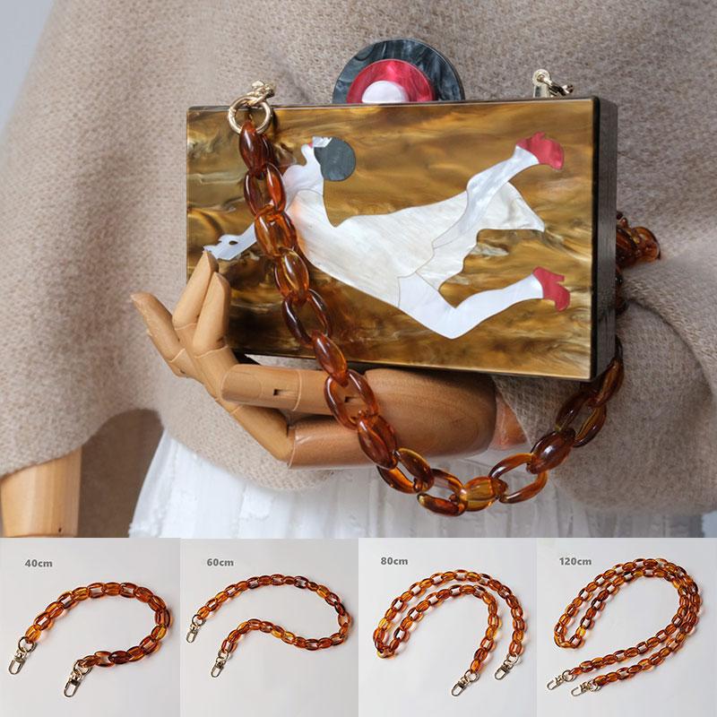 1Pc 40/60/80/120cm Plastic Bag Strap For Shoulder Bag Fish Bone Handbag Chain Strap Detachable Belts Handle Bag Accessories