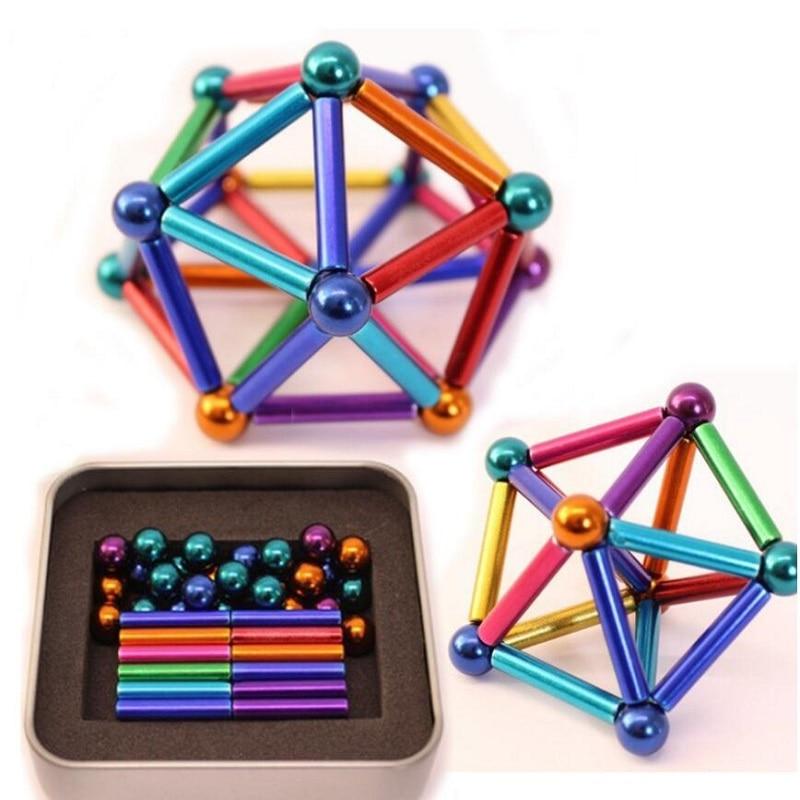 Puzzle en boule néo buck 2020 63 pièces/ensemble   Puzzle puissant et Permanent, sphère à aimant néo Permanent, magie, imanes créatifs et forts NdFeB