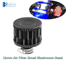 Bafire 12 Mm Universele Auto & Motorfiets Carbon Luchtfilter Auto Koude Lucht Intake Crank Case Turbo Vent Breather Filter air Filters(China)