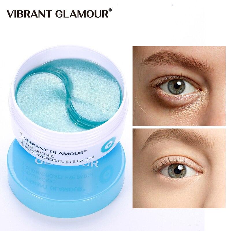 VIBRANT GLAMOUR Hyaluronic Acid Eye Mask Dark Circles Remove Anti-Wrinkle Collagen Eye Patches Whitening Moisturizing Eye Care