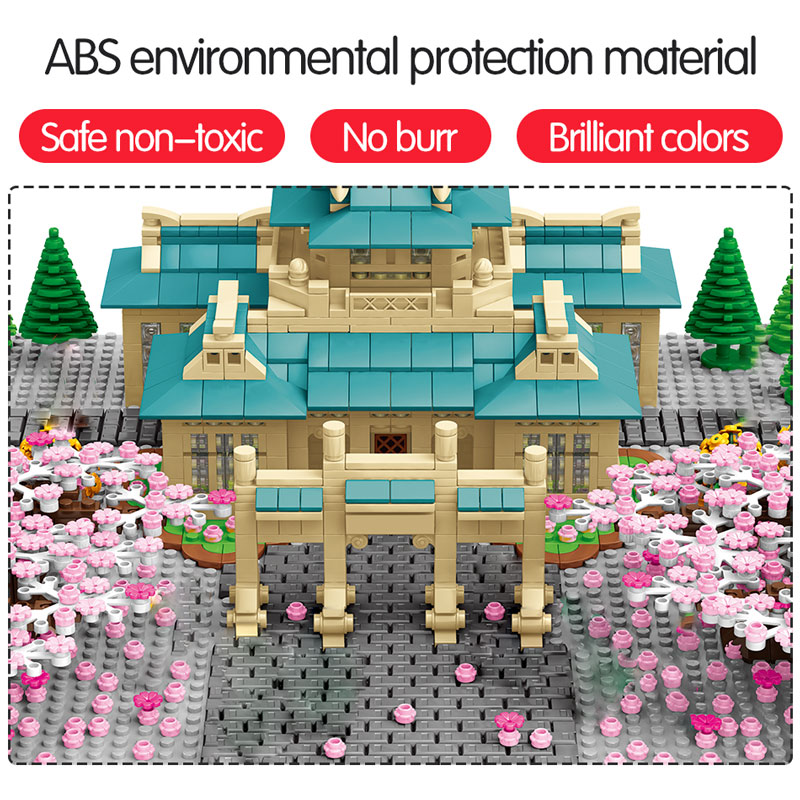 SEMBO New Cherry Blossom Season Building Blocks