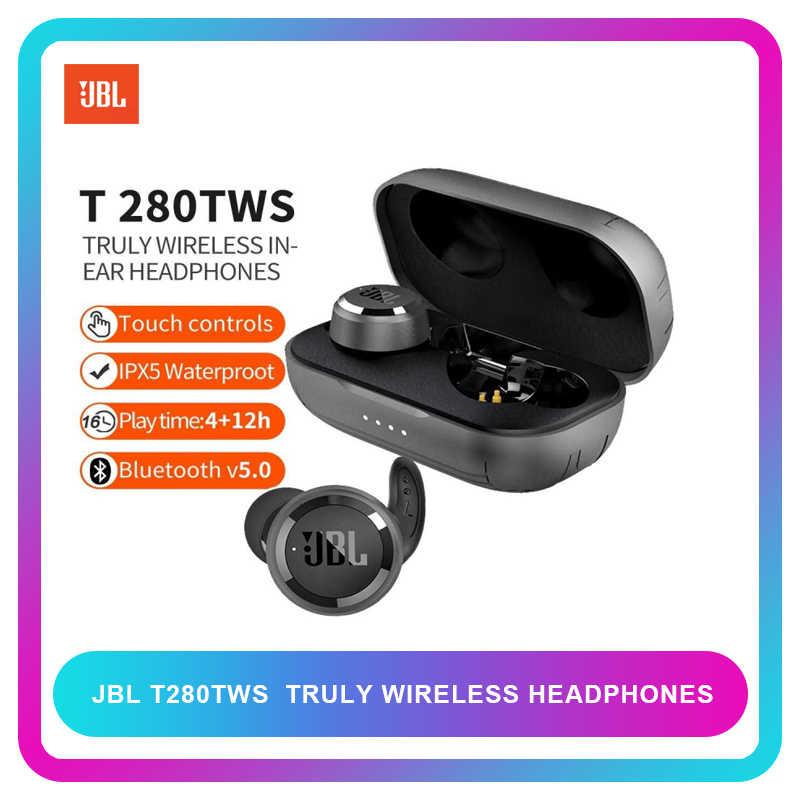 Jbl T280 Tws True Wireless Bluetooth 5 0 Earphones Stereo Music Earbuds Sport Running Earphone Ipx5 Waterproof With Mic Aliexpress