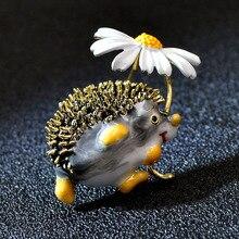 Brooch Fashion Animal Jewelry Daisy Cindy Xiang Funny Cute Hedgehog High-Quality Women