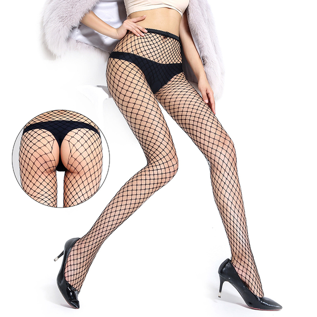 Woman Sexy Lingerie Pantyhose Erotic Stockings Jeans Hole Bottoming Mesh Open Crotch Fishnet Erotic Socks Intimate Goods for Sex 5