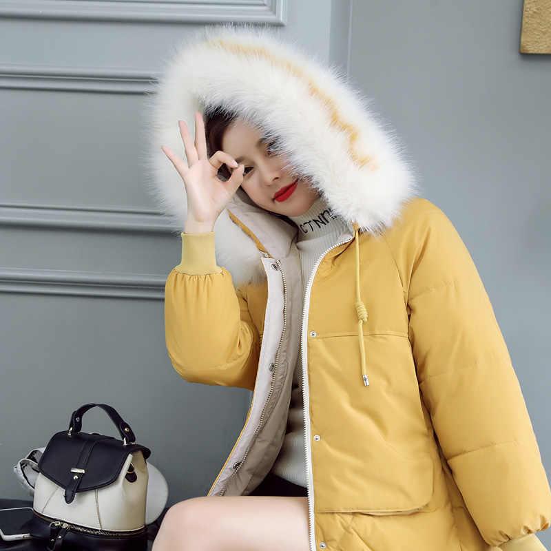 Neue 2019 winter warme mantel gepolsterte kurze weibliche dünne dünne jacken frauen dicker baumwolle jacke kleidung