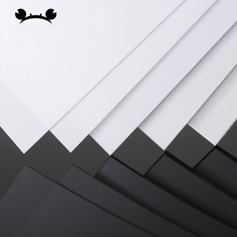 5pcs White 200mm*250mm DIY Plastic ABS Styrene Sheets Model Building Material 0.3-5mm thickness