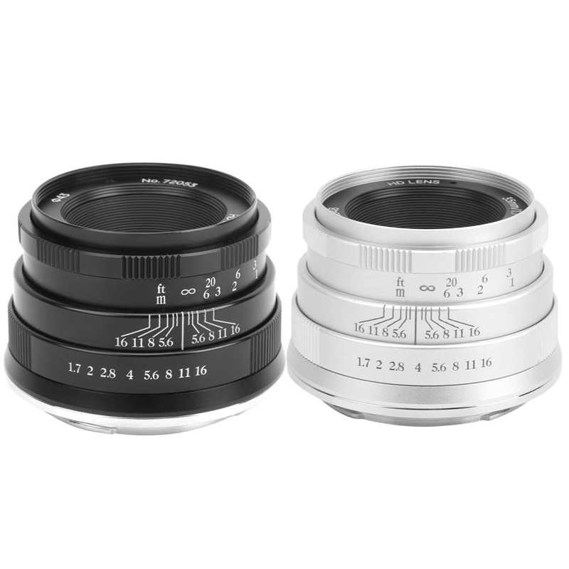 Loyal Newyi 35mm F1.7 Large Aperture Portrait Manual Focus Fixed Lens For Sony E Mount For Sony A3000/a6500/a6300/a6400/a6000 Can Be Repeatedly Remolded.